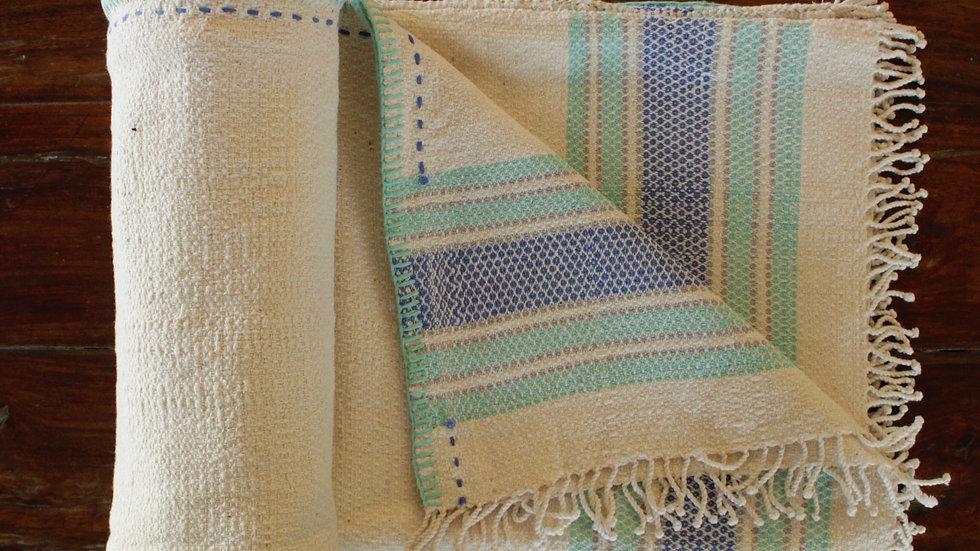 Kabutar-akh Aquamarine Striped Khes