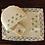 Thumbnail: Blue-Rose Embroidered Tea Linen (hand-woven)