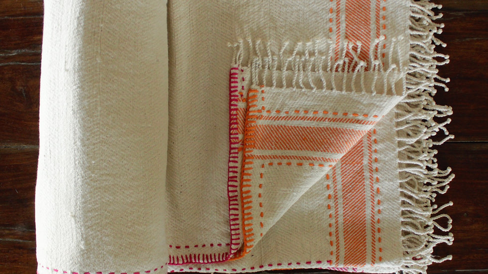 Orange-Pink Striped Khes