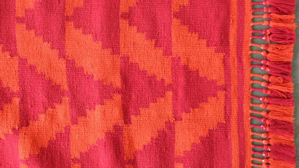 Red and Orange Tricone Patti Durrie