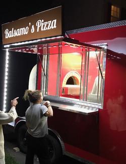 Balsamo's Pizza truck oven