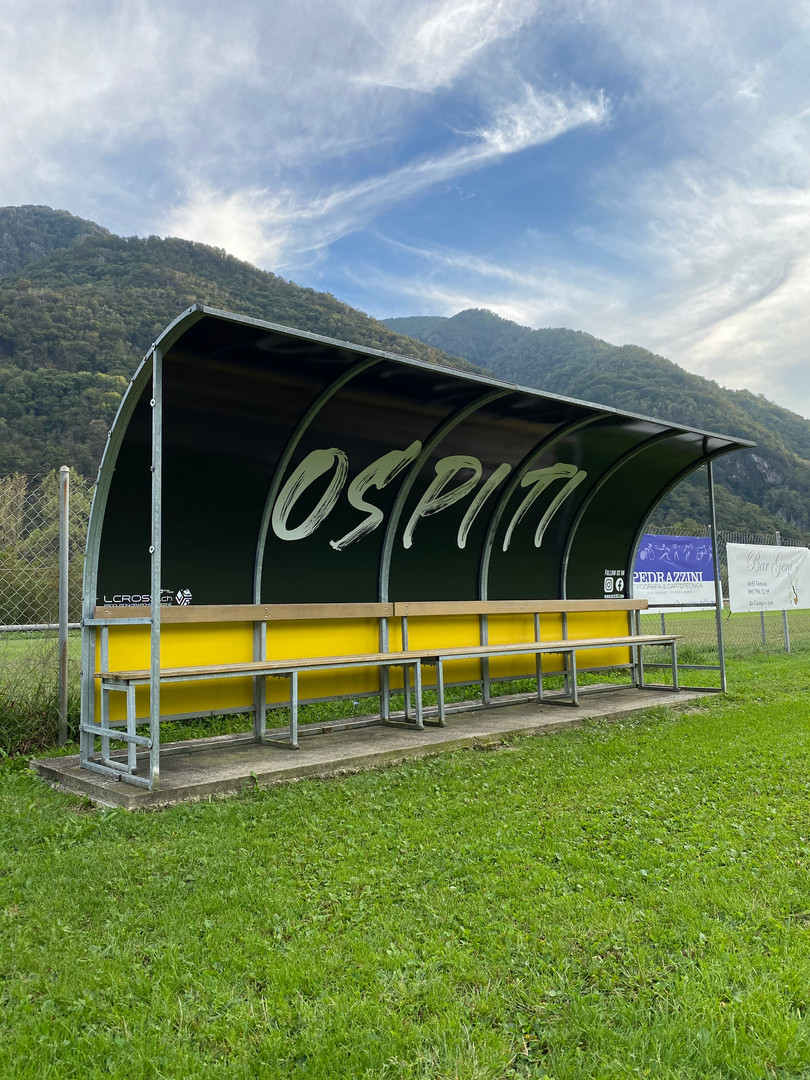 Nuovo design panchine Campo Sportivo San Fedele