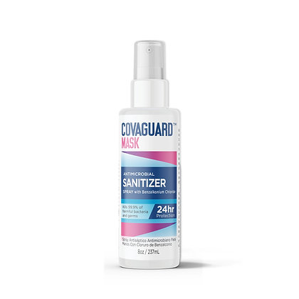8 Oz | COVAGUARD™ Mask Antimicrobial Sanitizer Spray (3+ Month Supply)