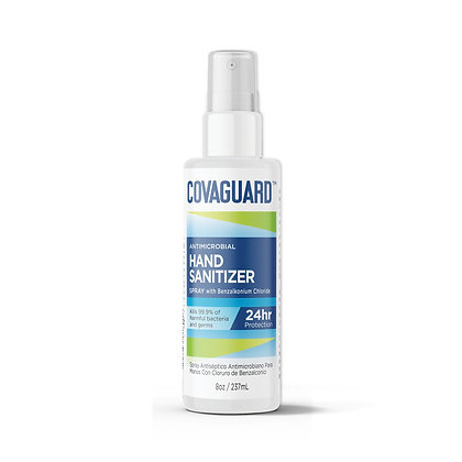 8 Oz | COVAGUARD™ Antimicrobial Hand Sanitizer Spray (3+ Month Supply)