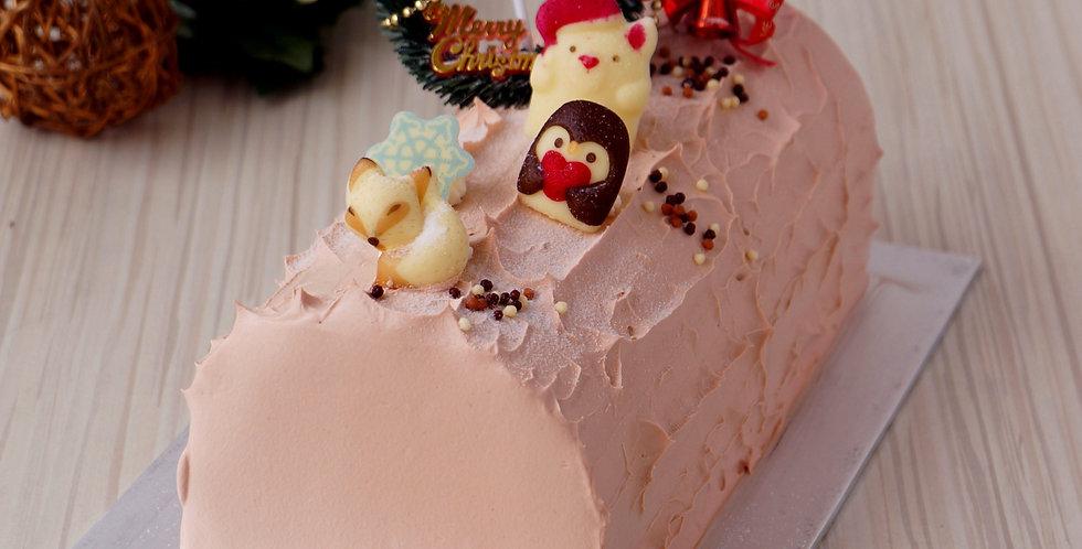 Eggless Choco Delight Log Cake