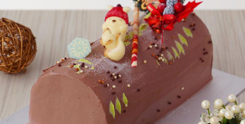 Truffle Sparkle Log Cake
