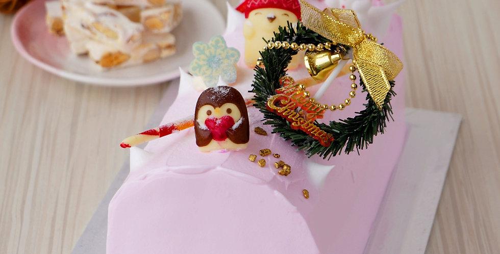 Choco Nougat Surprise Log Cake