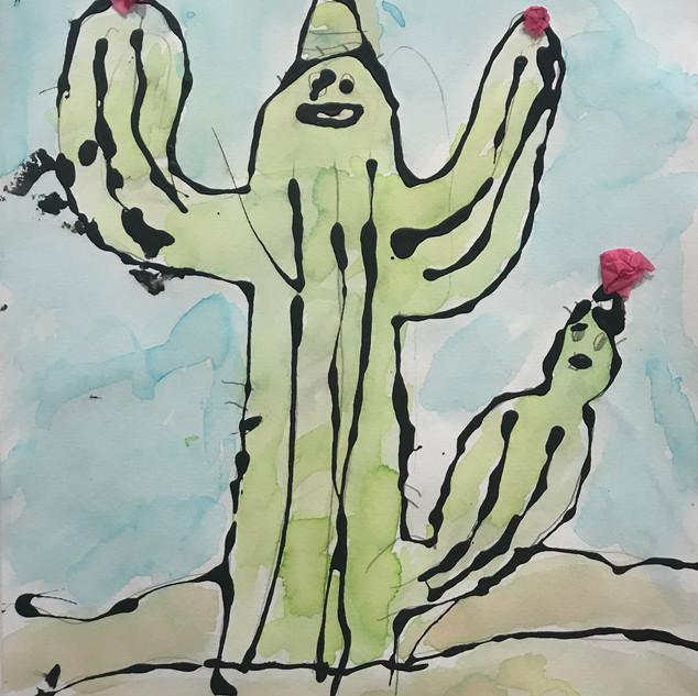 Watercolor Cactus