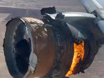 Le réacteur d'un avion prend feu en plein vol