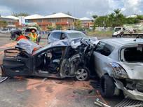 Guadeloupe : Six personnes ont été blessées dans un carambolage une femme de 74 ans. est décédé