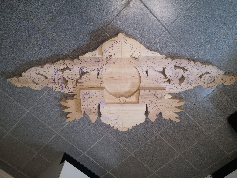 2e houten sierstuk namaken