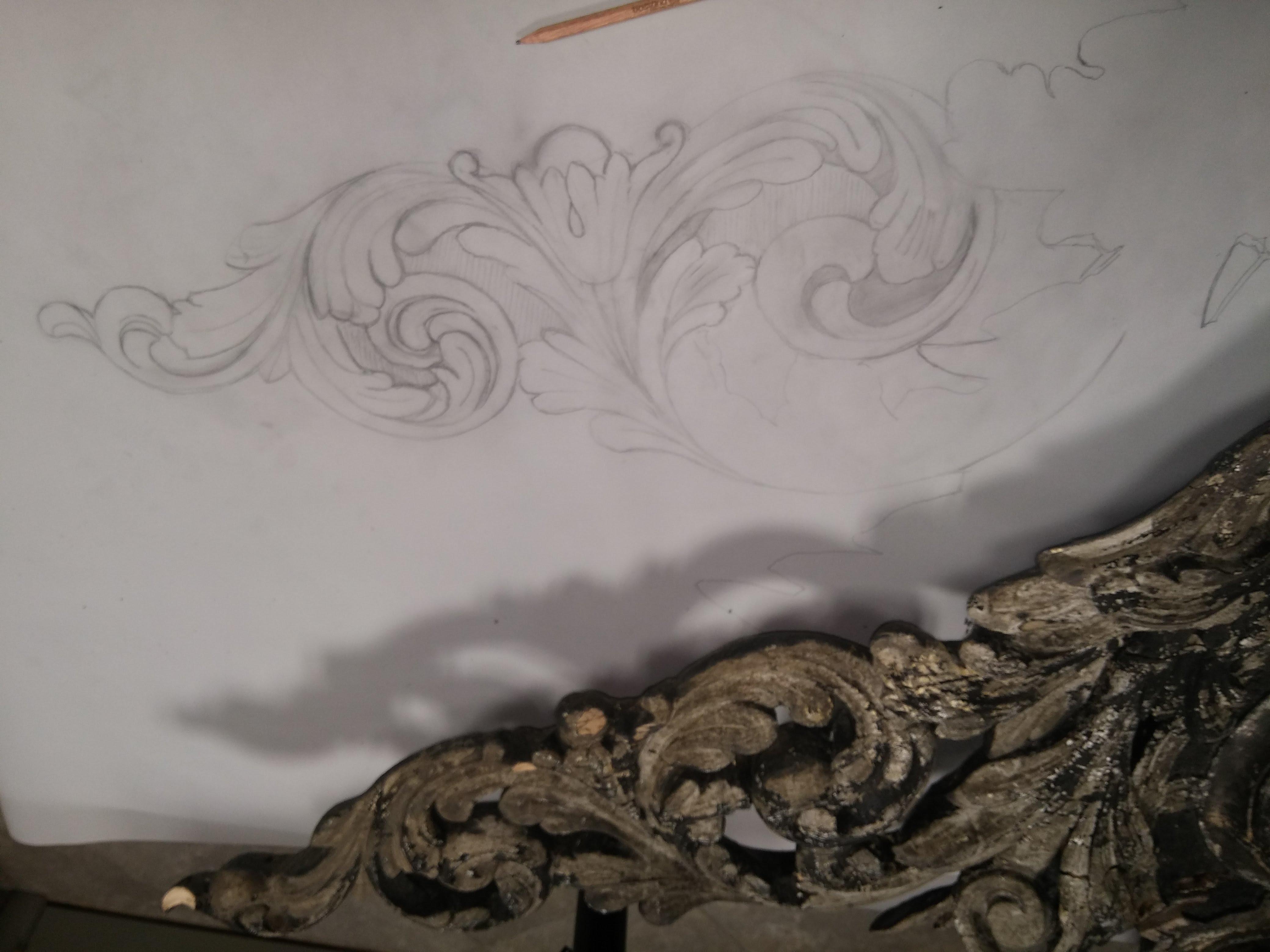 Tekening op kalkpapier