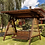 Thumbnail: Садовые качели 2,85 х 1,9 м. Ширина сидения - 1,5 м. Кровля мягкая черепица.