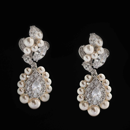 c60fe57d5 Bloom: Swarovski Pearl and Crystal Drop Earrings | Home | Bellejoux ...