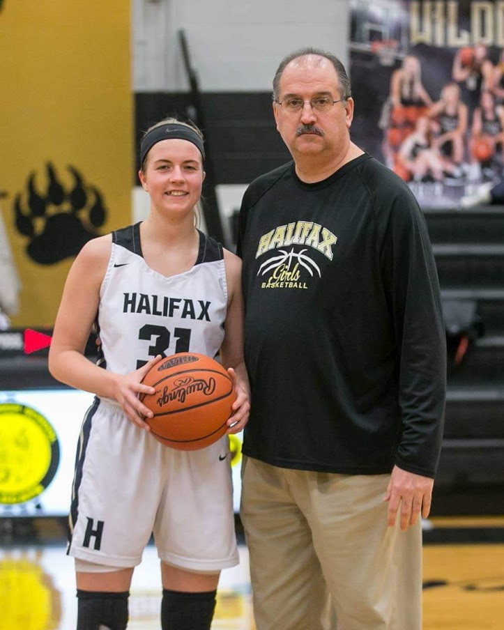 Montana Paul with the Halifax coach.