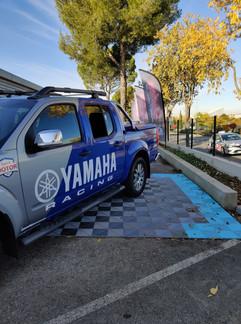 Covering Gris & Bleu métallique et kit déco yamaha racing