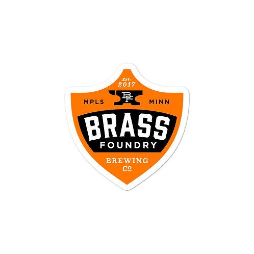 Brass Foundry Logo Sticker