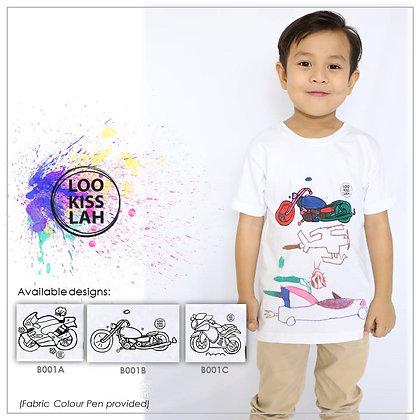 Washable Doodle Tshirt - Motorbike Theme