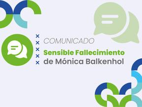 Comunicamos el Sensible Fallecimiento de Mónica Balkenhol