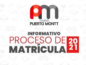INFORMATIVO PROCESO DE MATRÍCULAS 2021