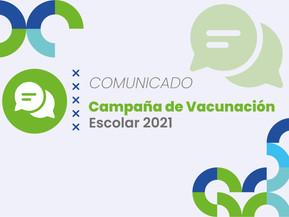 Campaña de Vacunación Escolar 2021