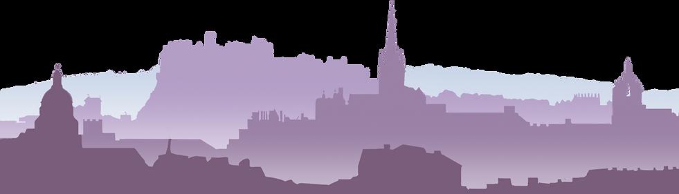 Edinburgh Skyline Illustration made by Patrick Knowles Design