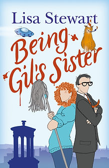 """Book cover of Lisa Sewart's novel """"Being Gil's Siter"""""""
