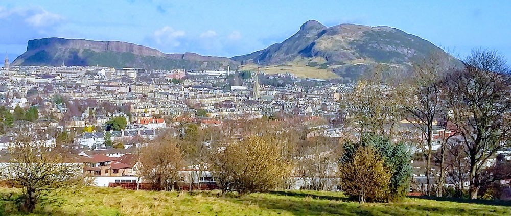 View over Edinburgh from Blackford Hill