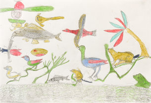 Andy Trudeau, ' Untitled #23', c. 2012, coloured pencil and graphite pencil on paper, 12 x