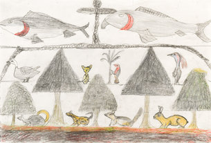 Andy Trudeau, ' Untitled #21', c. 2012, coloured pencil and graphite pencil on paper, 12 x