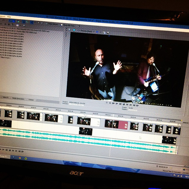 Editing some BJ and Todd footage
