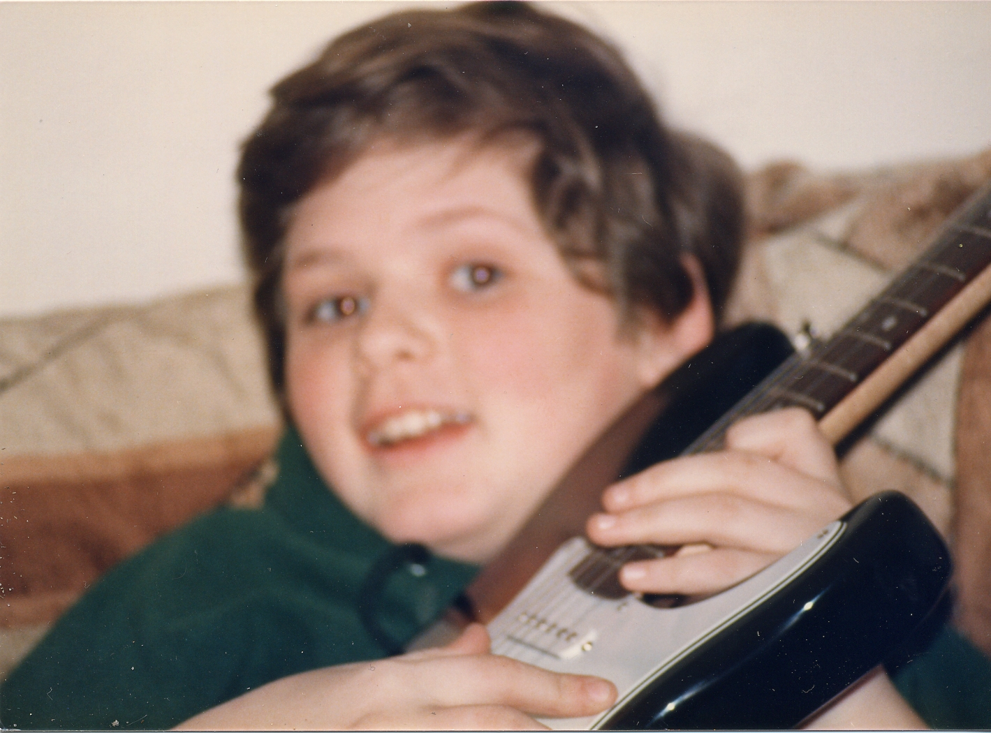 todd and his new guitar 1985