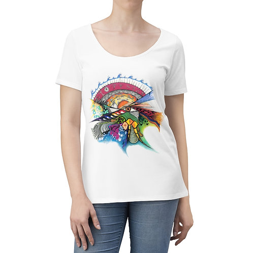 "savage Art's ""Time"" Women's Scoop Neck T-shirt"