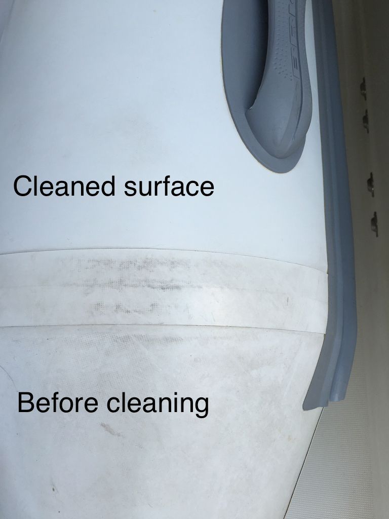 Difference between cleaned and not cleaned surfaces