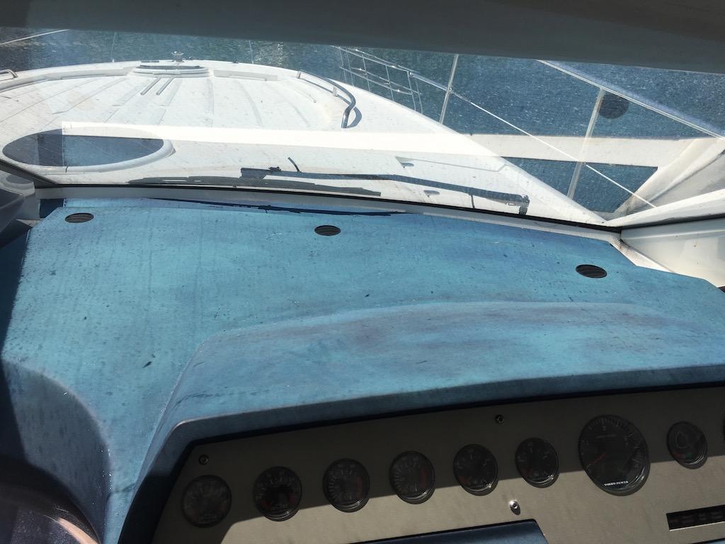 Sun&water damaged dashboard