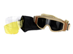 Lancer Tactical Airsoft Safety Goggles, Basic, Multi Lens Set