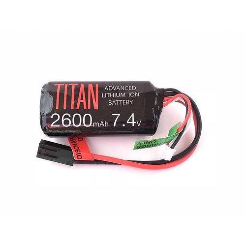 Titan 2600mAh 7.4v Brick Tamiya