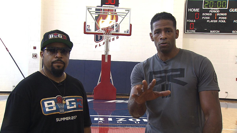 15 year NBA vet Kendall Gill with Hip Hop icon and BIG3 founder, Ice Cube