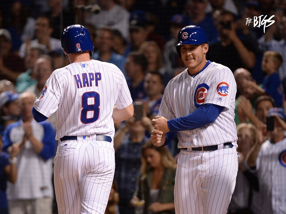 Ian Happ after his 2 run HR in the 3rd inning (Photo by John L Alexander)