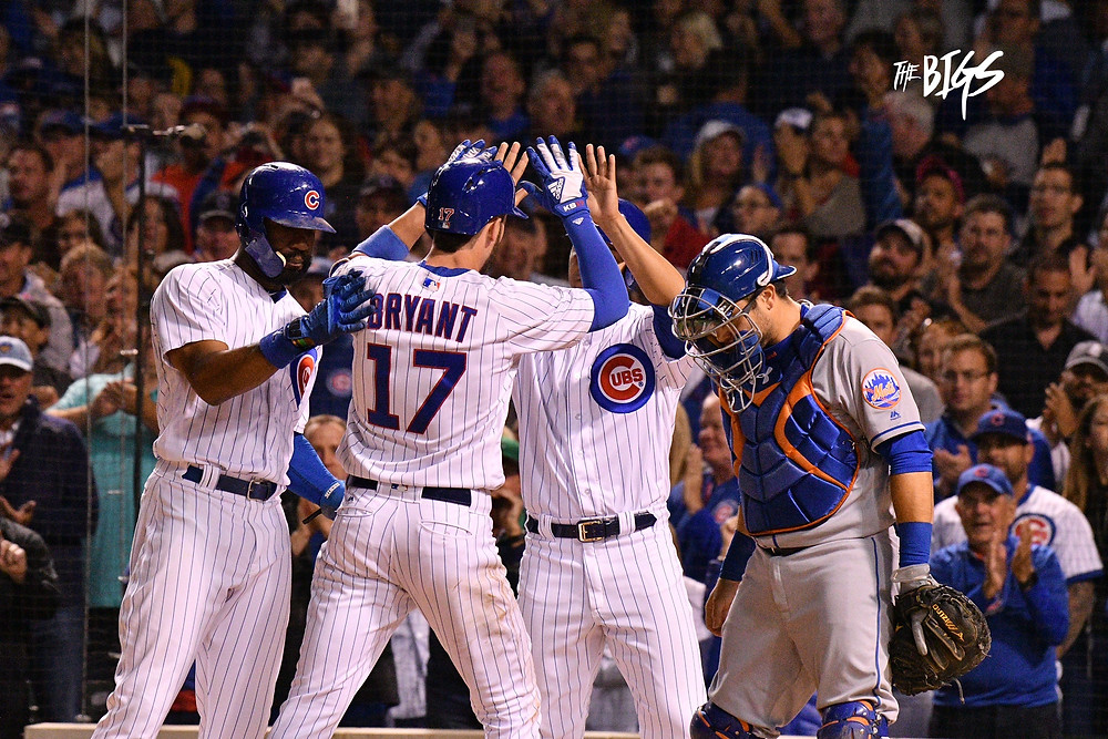 Kris Bryant after his 3 run HR (Photo by John L Alexander)