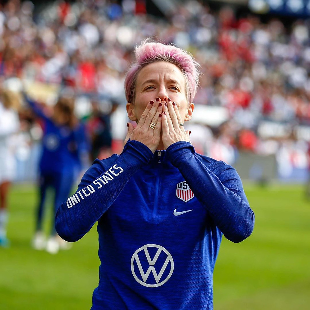 Megan Rapinoe at USWNT 2019 Victory Tour USA vs South Korea (Chicago, IL, Soldier Field Oct. 6th, 2019) - Alan Pan