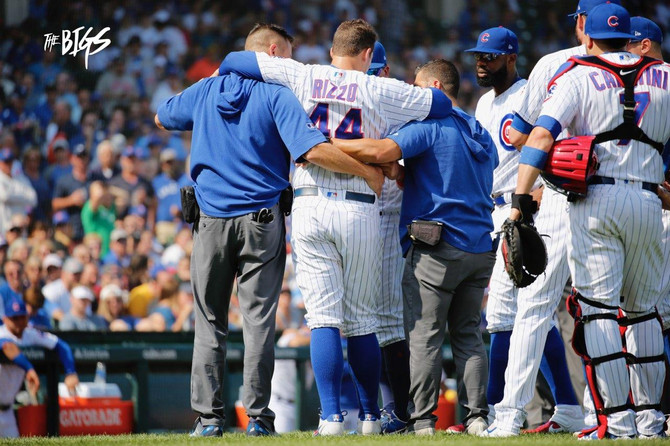 Rizzo goes down...Cubs stay up in sweep of Pirates