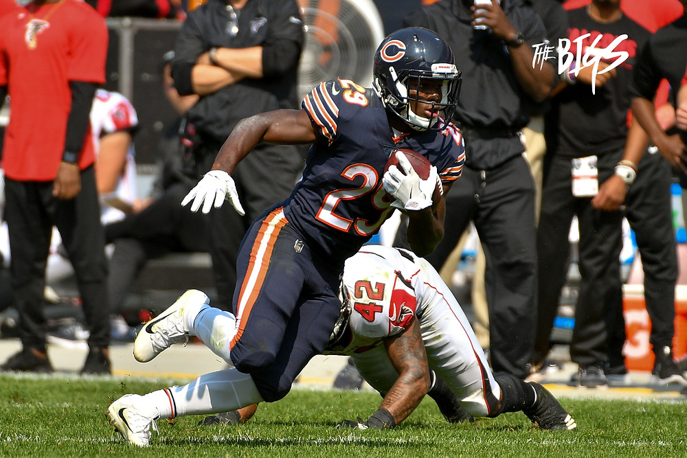 Tarik Cohen, the 5'6 180lb rookie running back was much more than meets the eye in Week 1. (John L. Alexander)