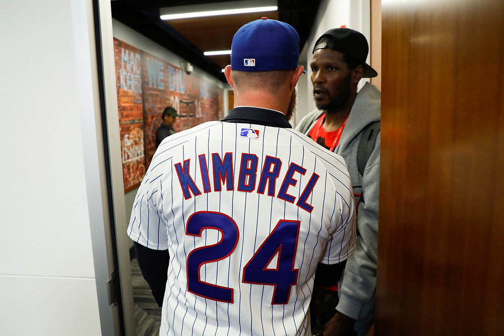Kimbrel getting familiar with the Friendly Confines with Eugene McIntosh (Courtesy of Chicago Tribune)