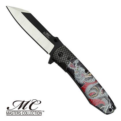 Canivete Master Collection preto com dragão