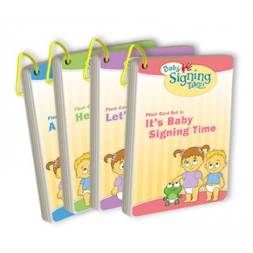 Baby Signing Time Flash Cards Set 1-4