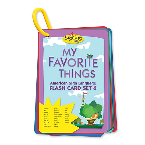 Flash Card Set 6: My Favorite Things