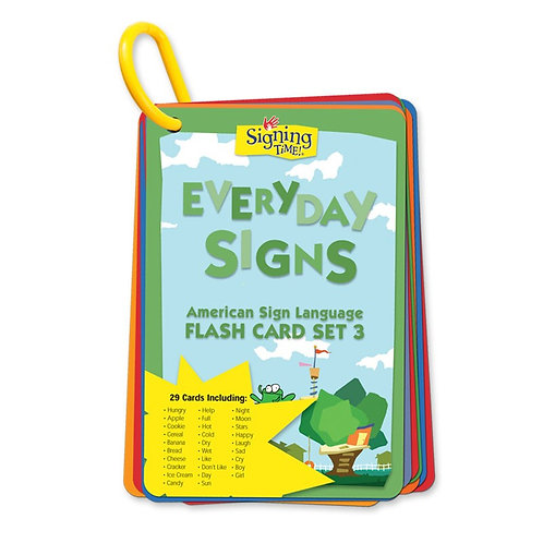 Flash Card Set 3: Everyday Signs