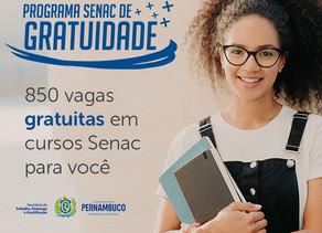 Senac e Seteq oferecem 850 vagas em cursos gratuitos de qualificação