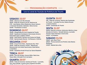 Prefeitura de Triunfo divulga programação da 62ª Festa dos Estudantes que acontecerá através de uma